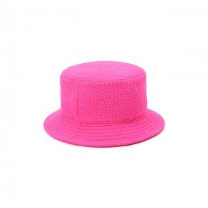 Шерстяная панама Maison Michel. Цвет: розовый