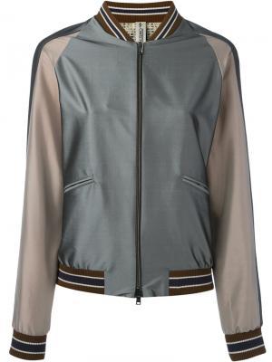 Куртка-бомбер Herno. Цвет: серый