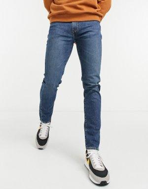 Синие узкие суженные книзу джинсы Levis 512-Голубой Levi's