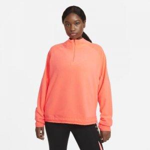 Женская беговая футболка Air Midlayer (большие размеры) - Оранжевый Nike