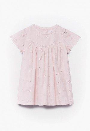 Платье Mango Kids - TITA. Цвет: розовый