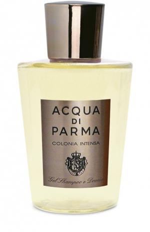 Гель для душа и мытья волос Colonia Intensa Acqua di Parma. Цвет: бесцветный