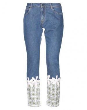 Джинсовые брюки ANDREA TURCHI. Цвет: синий