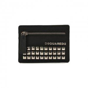 Текстильный футляр для кредитных карт Dsquared2. Цвет: чёрный