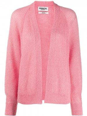 Кардиган фактурной вязки с длинными рукавами Essentiel Antwerp. Цвет: розовый