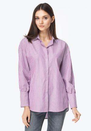 Рубашка Vilatte. Цвет: фиолетовый