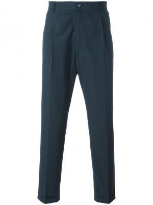 Классические брюки-чинос Dolce & Gabbana. Цвет: синий