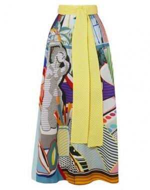 Длинная юбка ANNA SUI. Цвет: светло-желтый