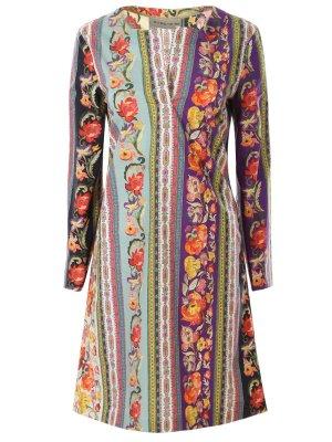 Платье-туника с принтом ETRO. Цвет: разноцветный