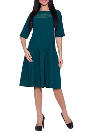 Платье Emansipe. Цвет: изумрудный