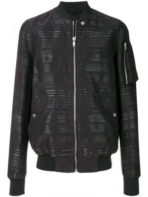 Куртка-бомбер с полосками Rick Owens