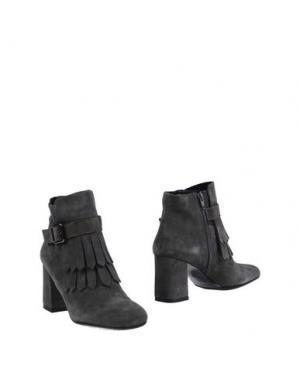 Полусапоги и высокие ботинки CAFèNOIR. Цвет: свинцово-серый