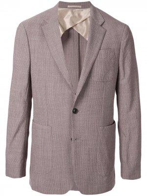 Фактурный пиджак Cerruti 1881. Цвет: фиолетовый