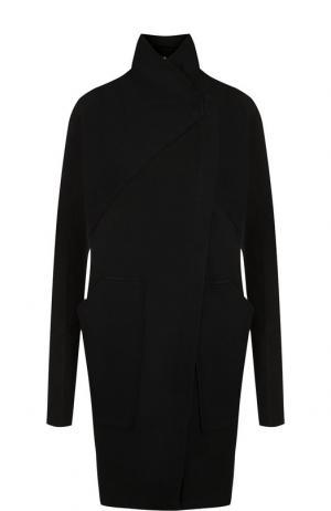 Однотонное хлопковое пальто с воротником-стойкой Roque. Цвет: черный