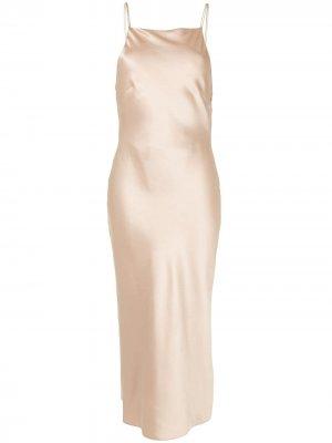Платье Antonelli с открытой спиной CAMILLA AND MARC. Цвет: коричневый