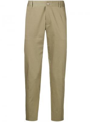 Классические брюки чинос Dolce & Gabbana. Цвет: зеленый