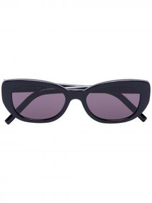Солнцезащитные очки Betty в овальной оправе Saint Laurent Eyewear. Цвет: черный
