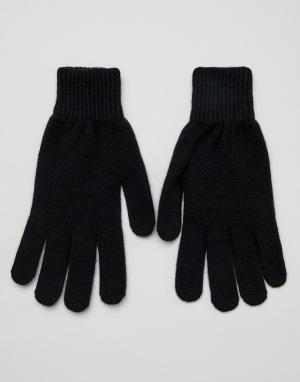 Черные кашемировые перчатки Paul Smith. Цвет: черный