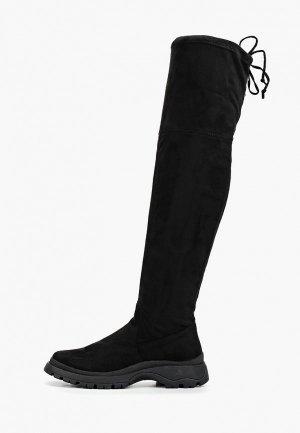 Ботфорты Evita. Цвет: черный