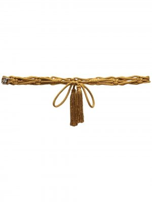 Пояс с завязками Alberta Ferretti. Цвет: желтый