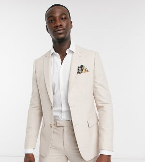 Пиджак узкого кроя из ткани с добавлением шерсти Tall Wedding-Белый Harry Brown