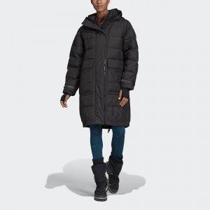 Утепленная куртка-бомбер Athletics Long by Stella McCartney adidas. Цвет: черный
