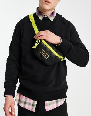 Черная сумка-кошелек на пояс с контрастной молнией Springer-Черный цвет Eastpak