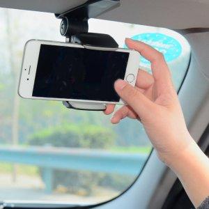 Автомобильный держатель солнцезащитного козырька для телефона SHEIN. Цвет: серебряные