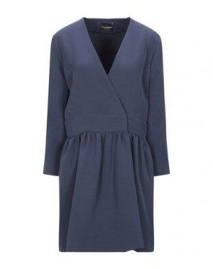 Короткое платье ATOS LOMBARDINI. Цвет: грифельно-синий