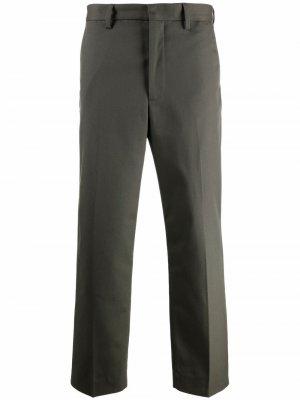 Прямые брюки строгого кроя Acne Studios. Цвет: зеленый