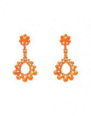 Серьги BEN-AMUN. Цвет: оранжевый