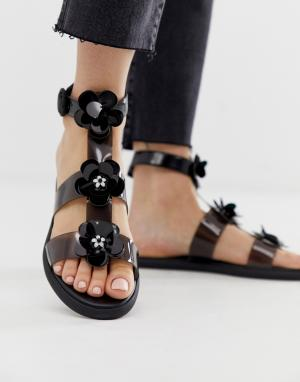 Прозрачные сандалии Juicy Couture. Цвет: черный