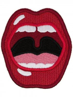 Нашивка в форме губ Marc Jacobs. Цвет: красный