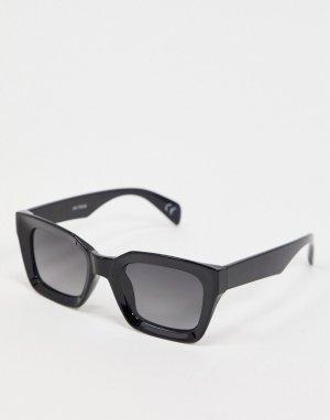 Черные солнцезащитные очки в квадратной оправе ASOS DESIGN-Черный