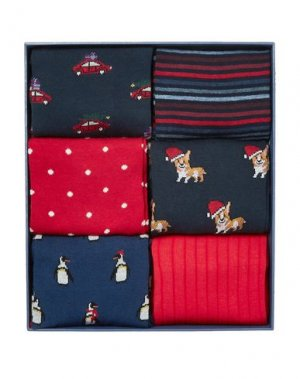 Короткие носки CORGI. Цвет: красный