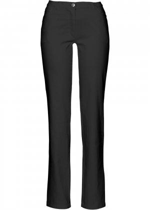 Прямые брюки стретч bonprix. Цвет: черный