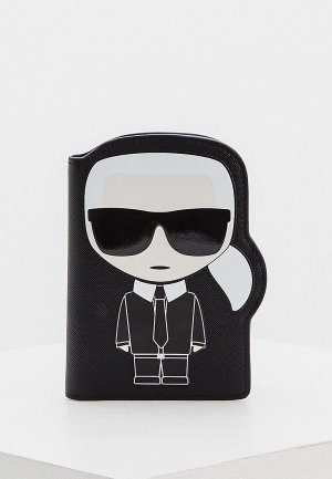Обложка для паспорта Karl Lagerfeld. Цвет: черный