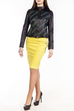 Куртка кожаная Versace Collection. Цвет: мультицвет