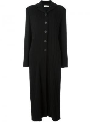 Однобортное пальто Romeo Gigli Pre-Owned. Цвет: черный