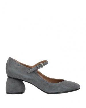 Туфли CARVEN. Цвет: серый
