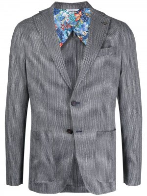 Пиджак с частичной подкладкой Manuel Ritz. Цвет: синий
