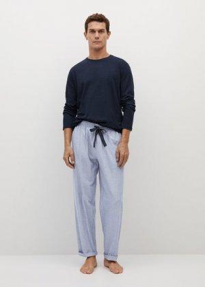 Комплект пижама из хлопка - Piwatch Mango. Цвет: темно-синий