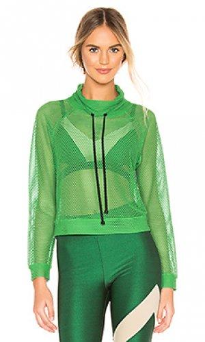 Пуловер pump open mesh KORAL. Цвет: зеленый