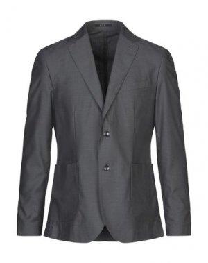 Пиджак HUB. Цвет: свинцово-серый