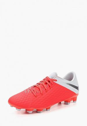 Бутсы Nike Phantom 3 Academy (FG). Цвет: красный