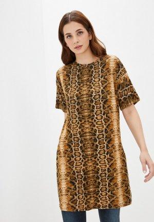 Платье Blacksi. Цвет: коричневый