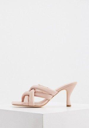 Сабо Ash. Цвет: розовый