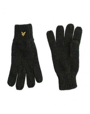 Перчатки LYLE & SCOTT. Цвет: темно-зеленый