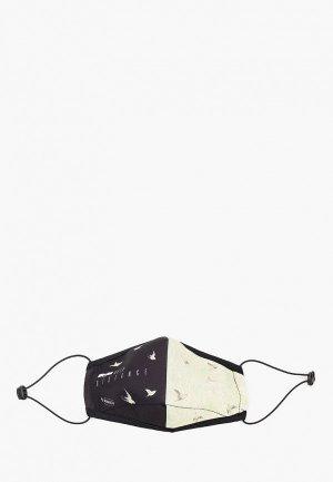 Маска для лица с фильтрующим элементом Routemark и перчатками Пушкинский музей – Птицы. Цвет: черный