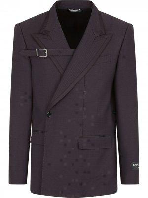 Пиджак асимметричного кроя Dolce & Gabbana. Цвет: фиолетовый